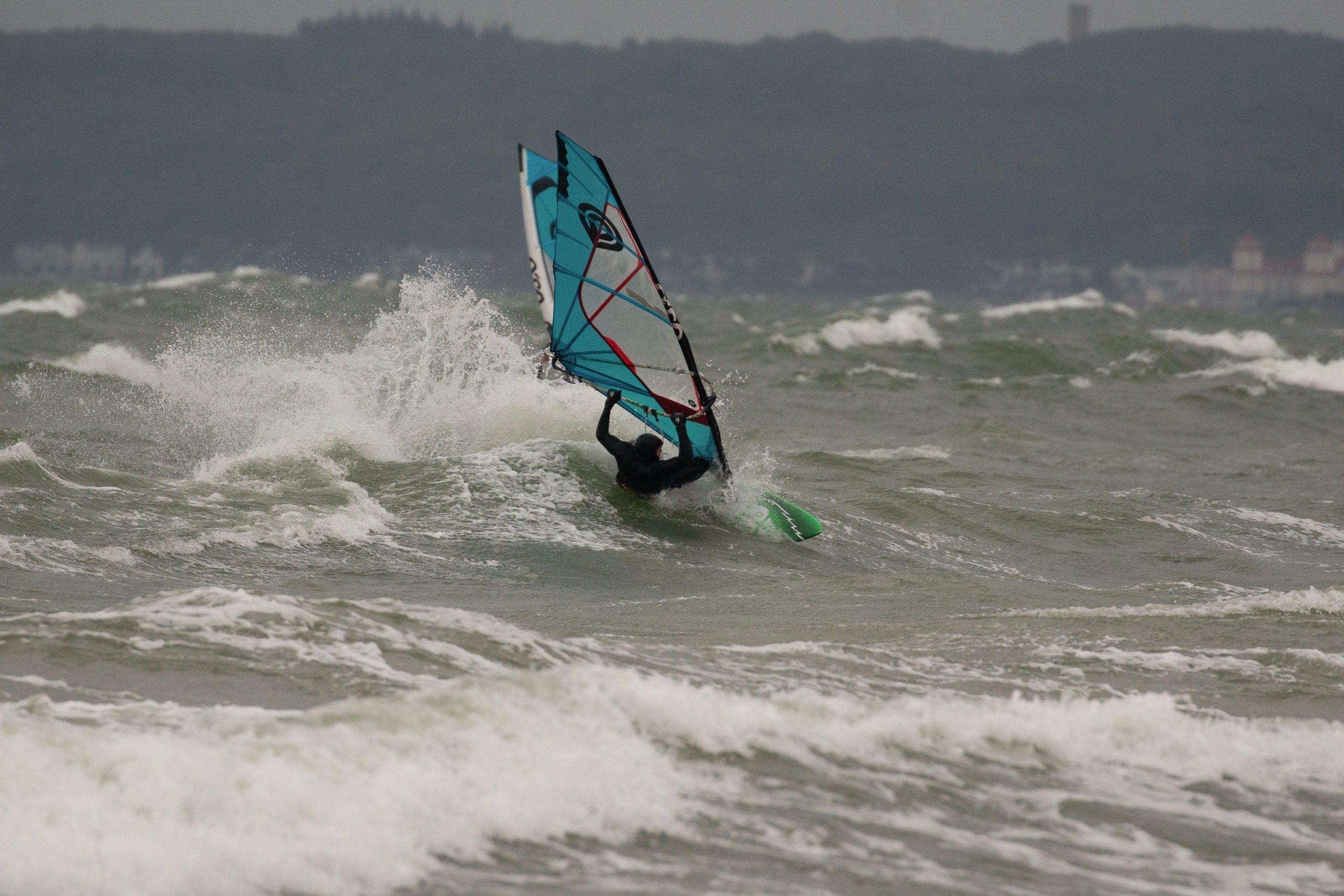 Windsurfen auf Rügen